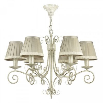 CANDELABRU FELICITA WHITE WITH PATINA