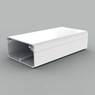 Canal cablu PVC cu capac si margini drepte, 80x40, alb