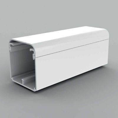 Canal cablu PVC cu capac si margini rotunde, 60x60, alb