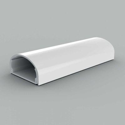Canal cablu PVC cu capac, semirotund, 40x19, alb