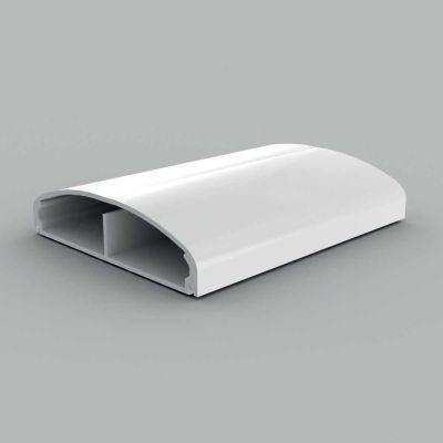 Canal cablu PVC cu capac, semirotund, 80x20, alb