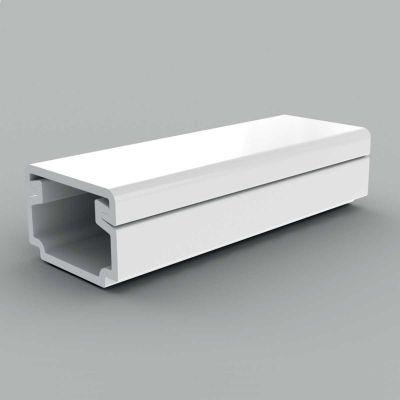 Canal cablu PVC cu capac si margini drepte, 15x10, alb