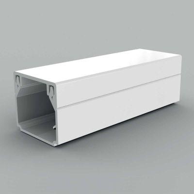 Canal cablu PVC cu capac si margini drepte, 17x17, alb