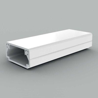 Canal cablu PVC cu capac si margini drepte, 20x10, alb
