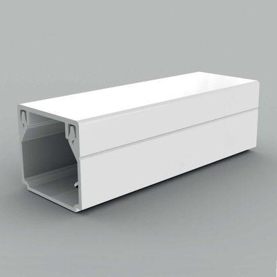 Canal cablu PVC cu capac si margini drepte, 20x20, alb
