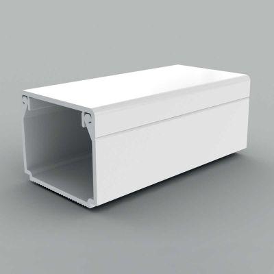 Canal cablu PVC cu capac si margini drepte, 25x20, alb