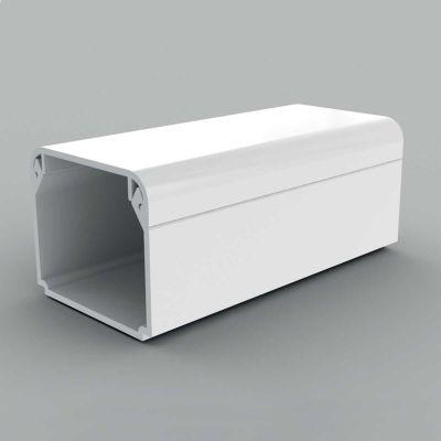 Canal cablu PVC cu capac, margini drepte, 30x25, alb
