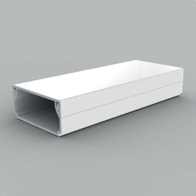 Canal cablu PVC cu capac si margini drepte, 40x20, alb