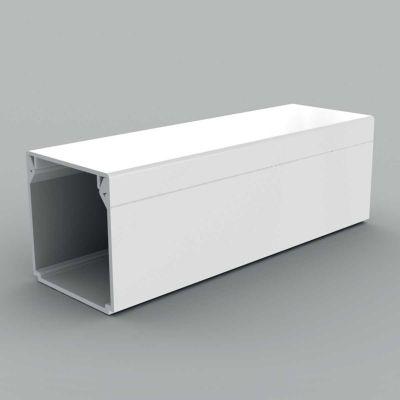 Canal cablu PVC cu capac si margini drepte, 40x40, alb