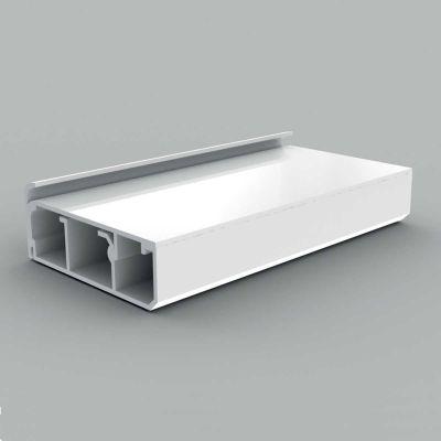 Canal cablu PVC cu capac si margini drepte, 80x25, alb