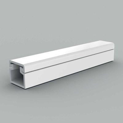 Canal cablu PVC cu capac si margini rontunjite, 11x10 alb