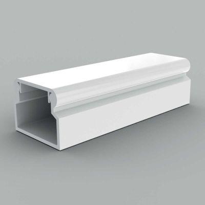 Canal cablu PVC cu capac si margini rontunjite, 18x13 alb