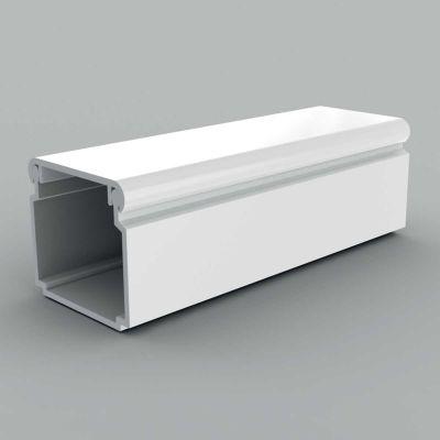 Canal cablu PVC cu capac si margini rontunjite, 24x22 alb