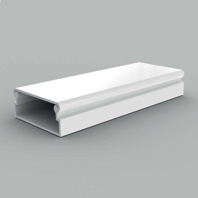 Canal cablu PVC cu capac si margini rontunjite, 40x15 alb