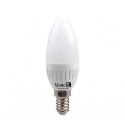 Bec cu LED lumanare E14 5W/830 230V alb cald