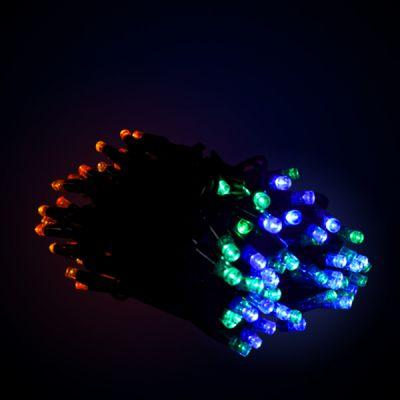 Sir luminos 10m 100 led-uri multicolore cu cablu verde
