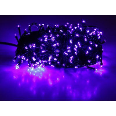Sir luminos 10m 100 led-uri violet cu cablu verde