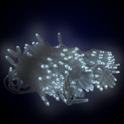 Sir luminos 20 M, 200 led-uri alb cu cablu alb