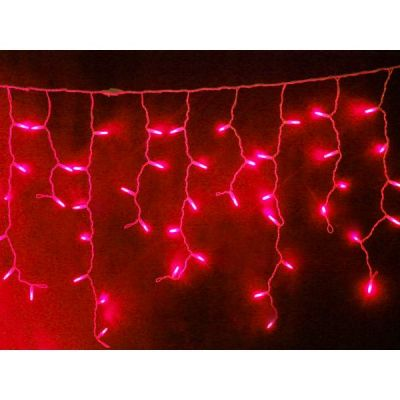 Turturi 4x0.9 m cu 180 Led -uri rosu cablu alb